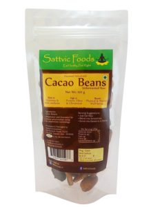 Amazon- Buy Sattvic Foods Unfermented Cacao Beans, 100g at Rs 45