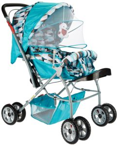 Amazon- Buy Tiffy & Toffee Baby Stroller Pram Maxtrem (Sky Blue) at Rs 2399
