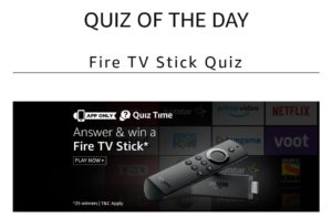 Amazon Fire Quiz TV