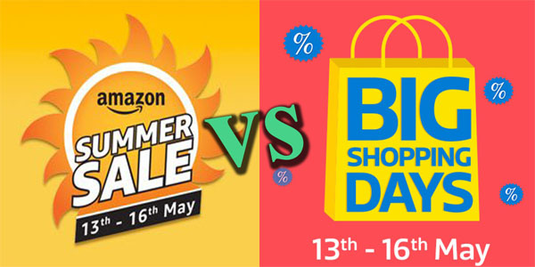 Amazon Summer Sale & Flipkart Big Shopping Days Best Deals