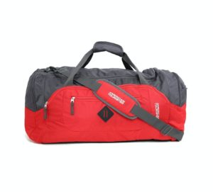 American Tourister Polyester 67 cms Red-Grey Travel Duffle