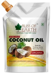 Bliss of Earth™ 100% Organic Virgin Coconut Oil | 250ML at rs.199