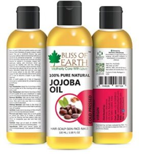 Bliss of Earth Pure Natural Jojoba Oil (100Ml) Coldpressed & Unrefined