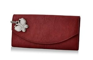 Butterflies Stylish Wallet (Maroon) at rs.281