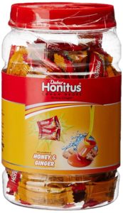 Dabur Honitus Ginger - Cough Drops - 100 lozenges jar