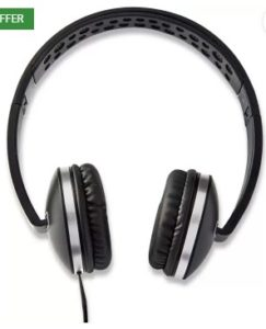 Envent ET-HPM500 BK Wired Headset with Mic  (Black, On the Ear)