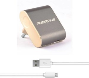 Flipkart- Buy Ambrane ATC-44 Mobile Charger (Grey/Gold) at Rs 349