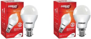 Flipkart- Buy Eveready 7 W B22 LED Bulb (White, Pack of 2) at Rs 158
