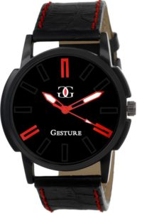 Flipkart - Buy Gesture Black And Red Beautiful Elegant unique Collection Mens Watch at Rs. 104