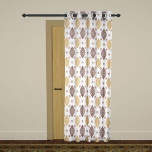 Flipkart- Buy Homely Polyester Door Curtain 214 cm (7 ft) Single Curtain at Rs 99