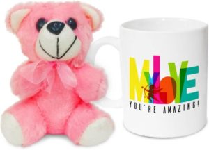 Flipkart- Buy Hot Muggs My Love, you're amazing! Valentine with Teddy Ceramic Mug (350 ml) at Rs 149