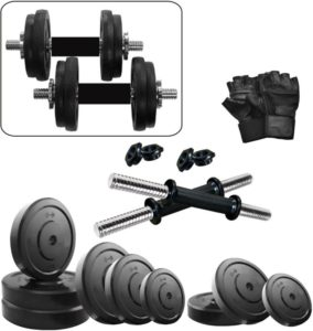 Flipkart- Buy KRX 18 KG DM COMBO 3-WB Home Gym Kit at Rs 595