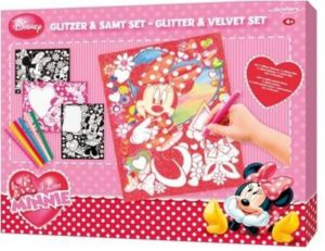 Frog Minnie Glitter and Velvet Picture Set, Multi Color