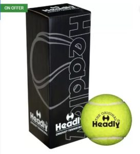 Headly Heavy Cricket Tennis Ball  (Pack of 3, Yellow) at rs.153