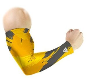 Le Gear Brushed Series Arm Sleeves (Shined Yellow, Free Size)