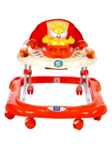 Mee Mee Safety Baby Walker with Adjustable Height (Orange)