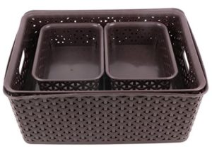 Miamour 4 Piece Plastic Crate at rs.307