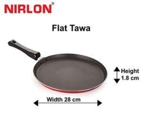Nirlon Non-Stick Aluminium Tawa, 28cm, Multicolour at rs.254