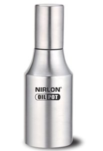 Nirlon Stainless Steel Oil Dispenser, 800ml, Silver at rs.177