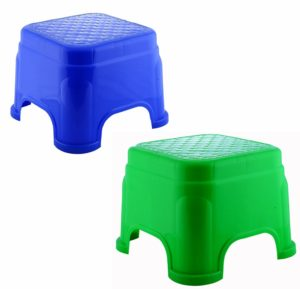 Novicz 2 Piece Plastic Bathroom Stool
