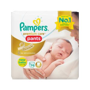 Pampers Premium care Pants New Baby upto 5 kg (24 Count)