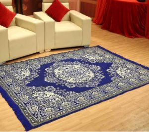 Pepperfry- Buy Blue Cotton 7 Feet long Carpet by Status at Rs 199