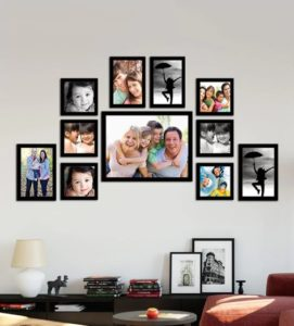 Pepperfry- Buy Classy Memory Timeline Black Wood Photo Frame at Rs 899