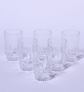 Pepperfry- Buy ROXX Exotic Glass Tumblers - Set of 6 at Rs 135