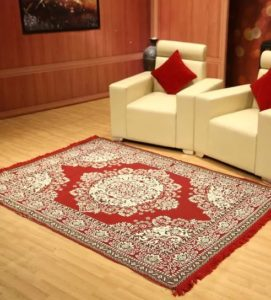 Pepperfry- Buy Red Cotton 54 x 84 Inche Dhurrie Rug by Status at Rs 249