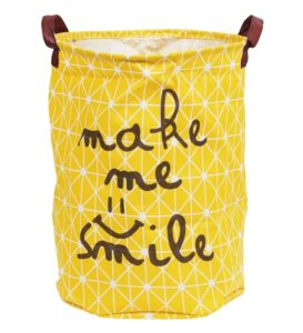 Pepperfry- Buy Story@Home Fabric Yellow Foldable Laundry Bag Basket with Carry Handle at Rs 199