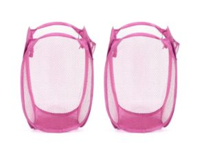Pepperfry- Buy Stybuzz Nylon Pink Foldable Laundry Bag - Set Of 2 at Rs 89