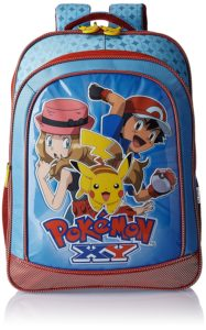 Pokemon Polyester 18 Inch Blue and Red Children's Backpack