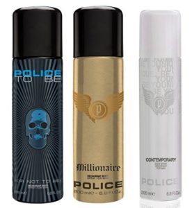 Police Pk3 Contemporary, Tobeman and Millionaire Men Deos, 450ml at rs.449