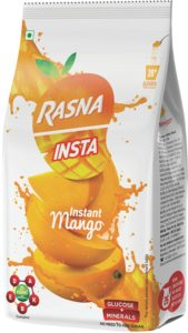 Rasna Fruit Plus 750gm polypouch, Mango Pack of 2