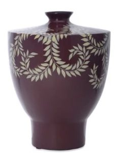 Red Ceramic Earthy Wines Small Indoor Vase