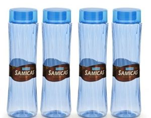 Steelo Plastic Water Bottle, 1 Litre, Set of 4