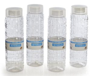 Steelo Solitare Premium Bottle Set, 1 Litre, Set of 4 at rs.203