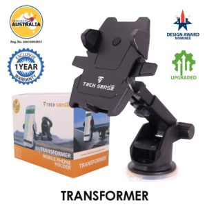 Amazon - Buy Tech Sense Lab (Australia)-Transformer one touch 360 degree Rotating Car Mobile Holder For Dashboard and Windshield - Upgraded 2018 model at Rs. 585
