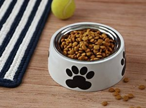 The Home Label Playful Paws Pet Bowl, White at rs.195