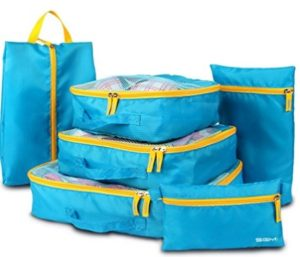 Travel Luggage Organizer, Packing Cubes Set, SGM Set of 6  at rs.399