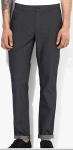 United Colors of Benetton Black Printed Regular Fit Chinos pant