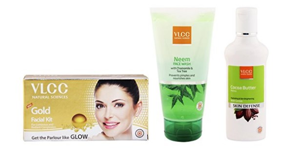VLCC Gold Single Facial Kit, 60g and Cocoa Butter Body Lotion, 100ml and Neem Facewash, 150ml at rs.342