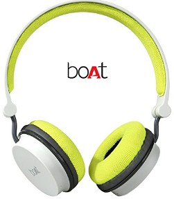 boAt Super Bass Rockerz 400 Bluetooth On-Ear Headphones with Mic (Grey,Green)