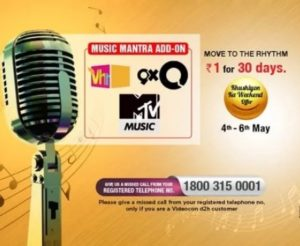 music mantra videocon d2h