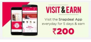 snapdeal app visit