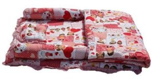 Amardeep and Co Baby Mattress with Quilt Collage (Red) - mt03-red-collage