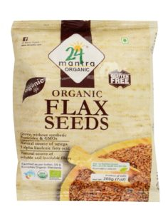 Amazon - Buy 24 Mantra Organic Flax Seeds, 200g (Pack of 4) at Rs 137