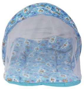 Amazon - Buy Amardeep and Co Toddler Mattress with Mosquito Net (Blue) at Rs 286
