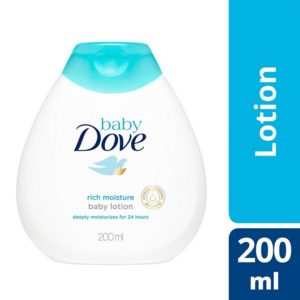 Amazon - Buy Baby Dove Baby Lotion Rich Moisture (200ml) at Rs. 75