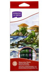 Amazon - Buy DERWENT Academy Watercolour Paints 12ml (Pack of 12) at Rs 318